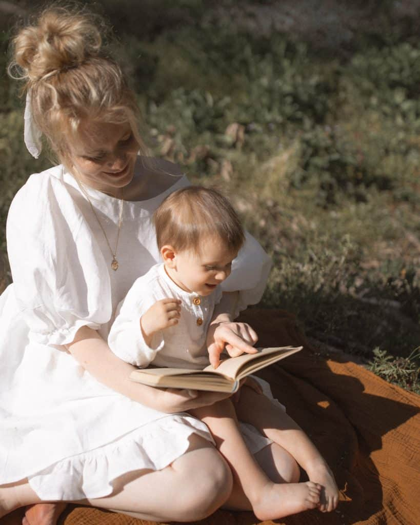 Mommy Reading a book for her toddler - boy - Potty Training Tips and Tricks