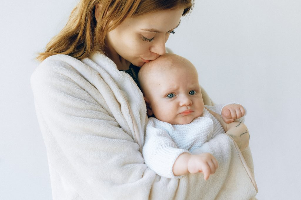 baby with his mother
